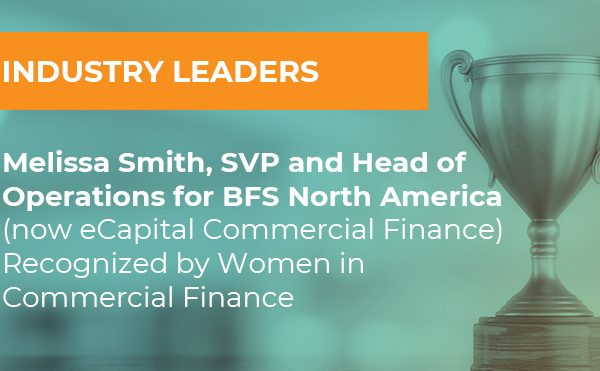 A trophy and text that says Industry Leaders: Melissa Smith, SVP and Head of Operations